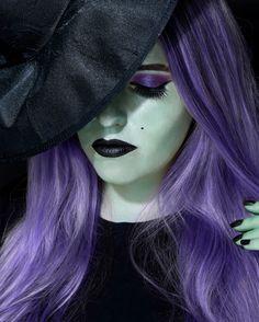 Metallic Glam Witch - Halloween makeup