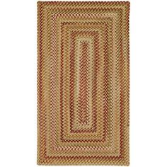 Willow Bay Braided Rectangle Area Rug, Multicolor