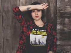 """I'M A PROUD CIVIL ENGINEER - LIMITED!!!  Being a Civil Engineer is a wonderful profession, creating beauty in design and construction with creativity and ingenuity. LIKE & SHARE your pride of a Civil Engineer with your Classmates, colleagues, family members and friends. >>Check out here: https://teespring.com/AProudCivilEngineer Click """"Buy it now"""" button to pick your size and order!  *30 Day 100% Satisfaction GUARANTEED **100% Safe & Secure Checkout ***VERY High Quality Tees"""
