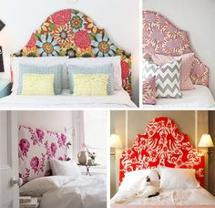 Distintos estilos y opciones muy fáciles de hacer uno mismo, acá van:    Tapizadas    Elegir una linda tela y tapizar la cabecera puede dar...