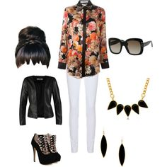 A fashion look from March 2015 featuring Givenchy blouses, ONLY blazers and Joseph leggings. Browse and shop related looks.