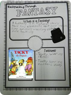 Each day our backpack is jammed pack with a new genre and the student tickets to get on the Genre Bus. We read a story and identify the traits that we find to classify that specific genre. Reading Genres, Reading Strategies, Reading Skills, Teaching Genre, Teaching Reading, Library Lesson Plans, Library Lessons, Readers Workshop, Writing Workshop