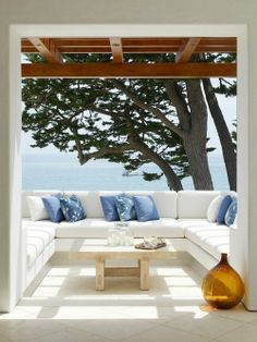 terrace and a sea view