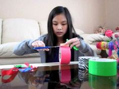 How to Make Duct Tape Bows and Candy Wrapper Bows
