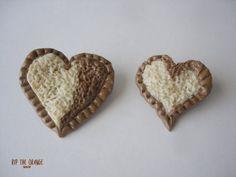Chocolate Heart Brooch