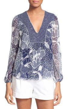 DIANE VON FURSTENBERG 'Maslyn' Print Silk Top. #dianevonfurstenberg #cloth #