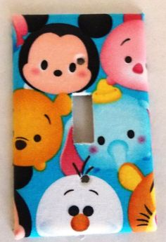 Disney Winnie the Pooh Mickey Mouse Light Switch Cover Plate