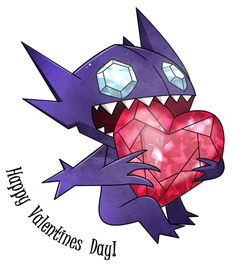A Sableye Valentine by Ilona-the-Sinister on DeviantArt Ghost Pokemon, All Pokemon, Pokemon Fan Art, Cute Pokemon, Pokemon Cards, Sableye Pokemon, Ghost Type, Gothic Fantasy Art, Happy Hearts Day