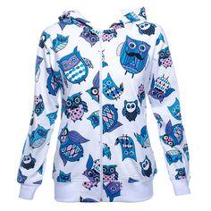 Innocent Owl Hoodie (White)