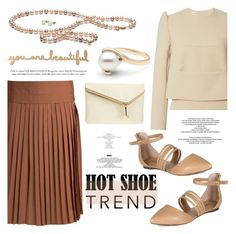 """""""So Stylish: Ankle Wrap Flats"""" by pearlparadise ❤ liked on Polyvore featuring Derek Lam, Delpozo, Breckelle's, Henri Bendel, contestentry, pearljewelry, pearlparadise and anklewrapflats"""