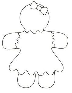 image relating to Gingerbread Man Template Printable referred to as gingerbread lady template printable - Google Glance