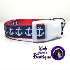 """It's no secret we love all things Anchors here at Marlo Ann's Boutique!  Say """"ahoy"""" to our """"Patriotic Anchor"""" Collar & Leash! ... The newest pattern available in our shop!   Click the link in my bio to find the pawfect accessory for your well-loved furbaby!   We offer worldwide shipping!   #MarloAnnsBoutique #marloanncavalier #doglover #dogsofcolumbus #houndandlife #dogs #instagood #dogsofinstagram #dogstagram #pets #petstagram #dailydog #dogoftheday #cute #dogcollar #dogleash #collar #leash…"""