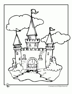 Castle Coloring pages, w/ links to other fairy tale coloring pages