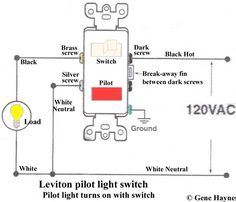 how to wire switches combination switch outlet light fixture turn rh pinterest com 3-Way Switch Wiring Diagram Two Switch Light Circuit