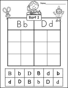 Letter Identification Sorts and Mazes with Handwriting Practice Improve Your Handwriting, Improve Handwriting, Nice Handwriting, Handwriting Practice, Handwriting Analysis, Handwriting Worksheets, Alphabet Worksheets, Alphabet Activities, Letter To Teacher