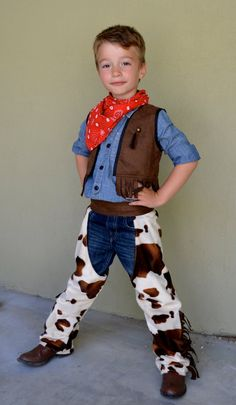 Cowboy Costume Set for Boys Custom Made Size 234567Y by uccostumes, $45.80