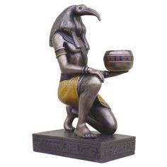 Statues of Egyptian Gods and Well Known Mythical Male Figures Egyptian Mythology, Egyptian Art, Egyptian Isis, Anubis, Bastet, Ancient Greek Sculpture, 3d Cnc, Gods And Goddesses, Ancient Egypt