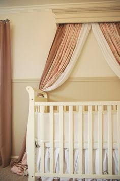 1000 images about nursery curtains on pinterest nursery for Drapes over crib