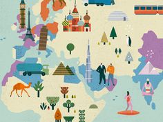 Adorable illustrated map by Lotta Nieminen. Anyone know where to buy???