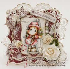 Handmade by Tamara: Christmas candle Tilda