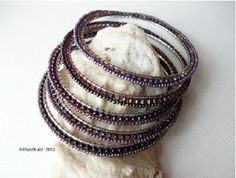 The Beading Gem's Journal: Bead Up a Bangle to add Color and Sparkle!