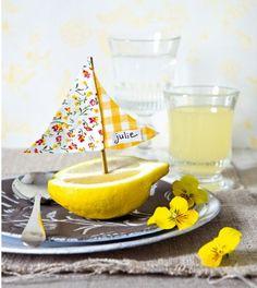 Lemon Boats Name Tags: Love. Luck. Kisses & Cake: DIY