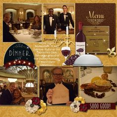 Captain's Gala Dinner > Digital Scrapbook Layout by Teresa using Wined & Dined by Melidy Designs