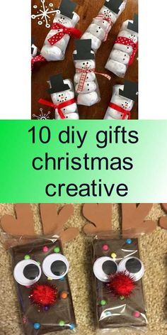 10 diy gifts christmas creative Diy Christmas Gifts, Christmas Cookies, Christmas Tree, Homemade Crafts, Diy Tutorial, Diy Gifts, Creative, December, Kids