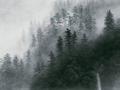 """Photo: """"Yugen - Mountain Mist"""" by Kaii Higashiyama Landscape Photos, Abstract Landscape, Reflection Photos, Japanese Artwork, Tinta China, Encaustic Art, Japan Art, Japanese Artists, Kyoto"""