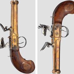 Flintlock pocket pistol, Liege 1800