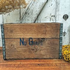 Vintage Nu Grape Soda Crate by greatoldcountryfinds on Etsy