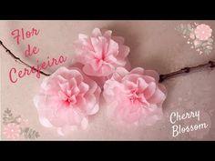 Paper Flowers Diy, Diy Paper, Paper Crafts, Diy Crafts, Cherry Blossom Party, Pink Blossom, Flower Stamen, Flower Art, 21st Decorations