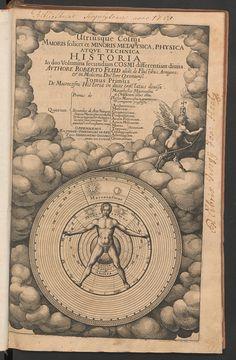 R. Fludd, Utriusque cosmi... historia, frontespizio, 1617-21 R. Fludd, Utriusque cosmi ... tarih, frontespizio, 1617-21