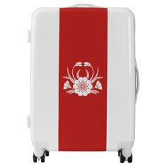 #personalize - #Crab-shaped cherry blossom luggage