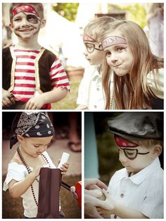 Pirate Party // face paint