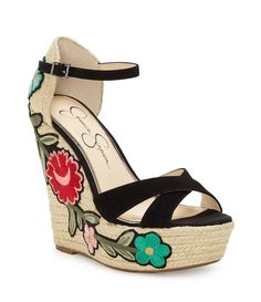 Shop for Jessica Simpson Apella Suede Leather Embroidered Floral Patch Espadrille Wedge Sandals at Dillards.com. Visit Dillards.com to find clothing, accessories, shoes, cosmetics & more. The Style of Your Life.