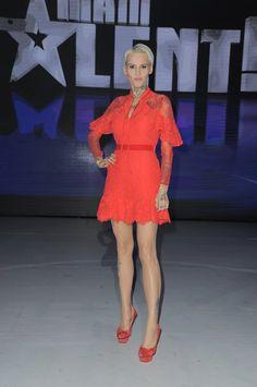 AGNIESZKA  CGYLIŃSKA . Talent Show, Aga, Dresses With Sleeves, Long Sleeve, Fashion, Moda, Sleeve Dresses, Long Dress Patterns, Fashion Styles