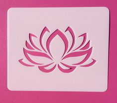 Express your heart with our beautiful lotus flower stencil. Reusable lotus stencil is laser cut on 12 mil thick mylar. Lotus flower template made in USA. Stencil Flor, Stencil Diy, Flower Stencils, Stencil Patterns, Stencil Designs, Kirigami, Lotus Flower Art, Stencil Material, Types Of Craft