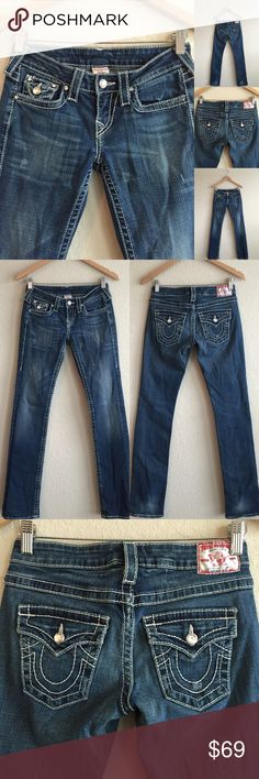 TRUE RELIGION  Jewel Disco Billy Big T Jeans, 26 GREAT condition!  Sparkling accents!!!    Original price is an estimation. True Religion Jeans