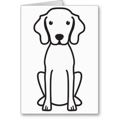 Vizsla Dog Cartoon Greeting Card