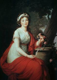 Princess Youssoupoff - Vigee le Brun -possibly for a miniature