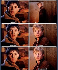 Arthur and Merlin awwww they care so much :3