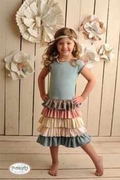 tshirt dress with multiple tiers -- Adorable!!