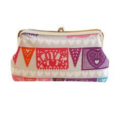 Love fiesta clutch purse by jenniferladd on Etsy, $65.00