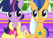 My Little Pony Twilight And Flash Kissing