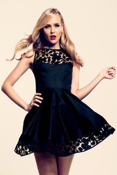 I LOOOVE this black a-line dress! ( For more chic fashion, check out the boards from Katelyn Adair!)
