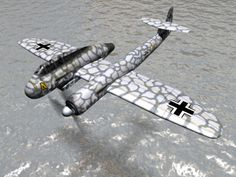 Blohm und Voss P.194  ground attack and multi purpose project of asymmetric layout . a development of the single piston -engined BV 141.The very much faster p.194 designed in march 1944 was to be powered by a jumo004b turbojet as well the BMW 801D radial piston engine  none were build