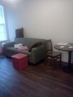 On campus apt-living room
