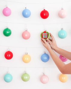 Christmas Ornament Advent Calendar   Oh Happy Day!