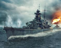 Prinz Eugen was an Admiral Hipper class heavy cruiser. She served with Nazi Germany's Kriegsmarine in WW II. Poder Naval, Scale Model Ships, Clash Of The Titans, Heavy Cruiser, Man Of War, Naval History, Navy Ships, Ship Art, Hale Navy